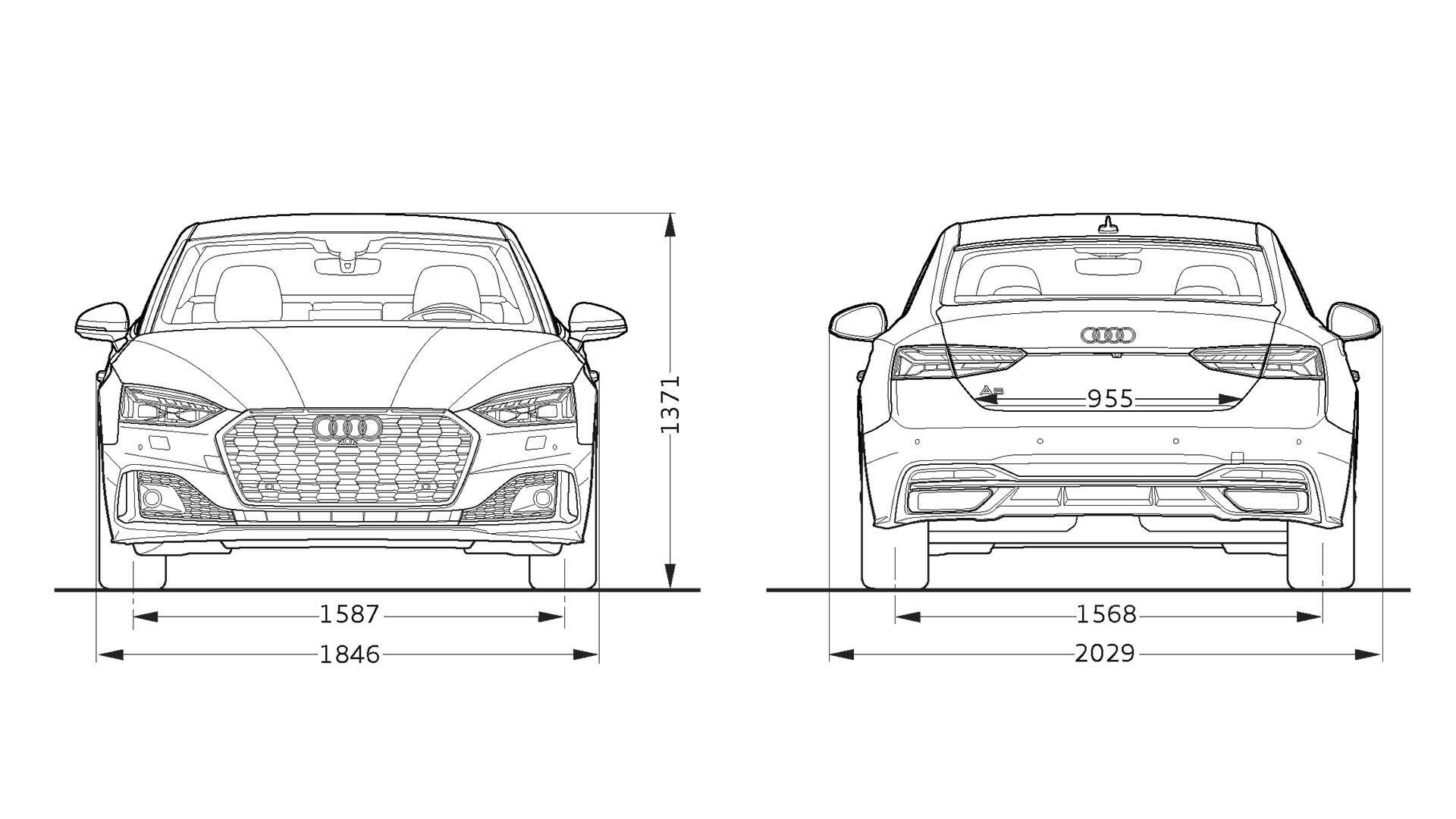 Abmessungen A5 Coupe A5 Audi Trinidad Tobago